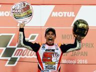 Gp del Giappone, moto Gp: la gioia di Marquez, vince la gara ed è campione del mondo 2016