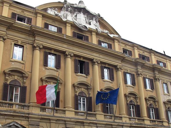 Il ministero del Tesoro in via Venti Settembre a Roma