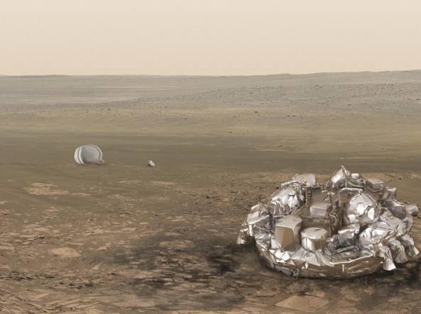 Il rendering di Schiaparelli su Marte (Reuters)