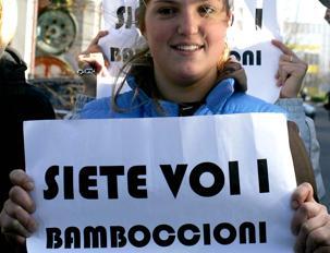 La protesta degli studenti nel 2010 (Ansa)