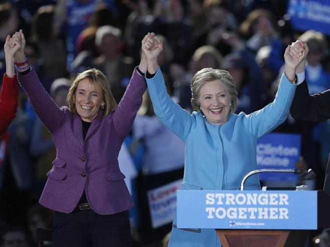 Hillary sente di aver già vinto e  vuole conquistare anche il Senato