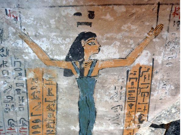 Antico Egitto: una camera funeraria con disegni e geroglifici risalente a 3.500 anni fa ritrovata a Luxor (Afp)