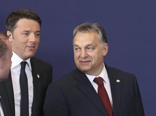 Orban-Renzi, rissa sui migranti tra Italia e Ungheria
