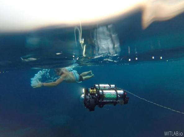 Archeorov, il drone sottomarino inventato da Simone Nascivera con Daniel Perghem e Francesco Paissan