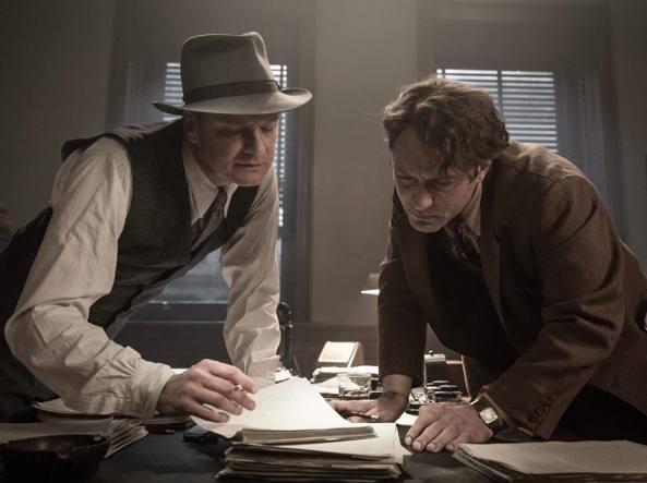 Una scena del film «Genius» con Colin Firth (a sinistra) e Jude Law (a destra)