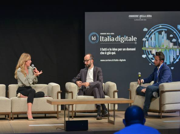 Da sinistra: Paoletta, il giornalista del Corriere Andrea Laffranchi e Alessandro  Volanti