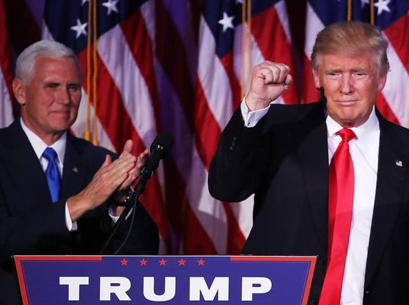 Mike Pence e Donald Trump (Afp/Wilson)