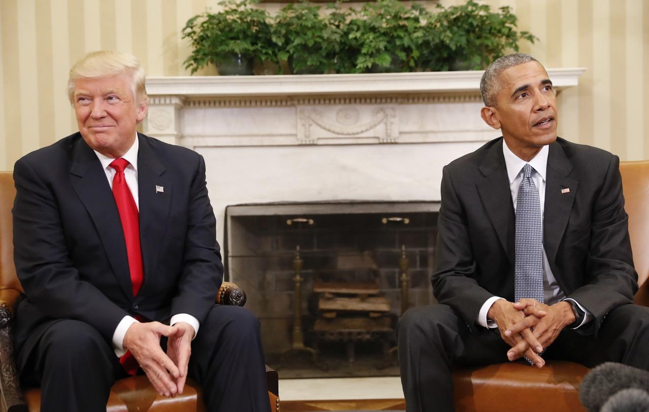Risultati immagini per Trump e Obama immagini