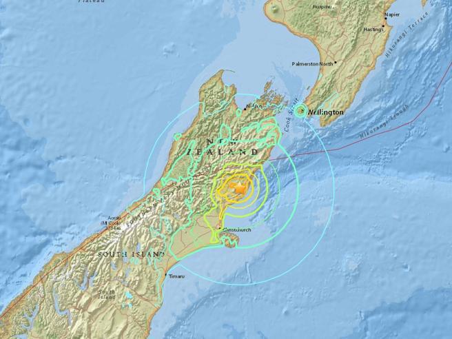 Nuova Zelanda:  scossa di terremoto (7.8) Allarme tsunami lungo la  costa