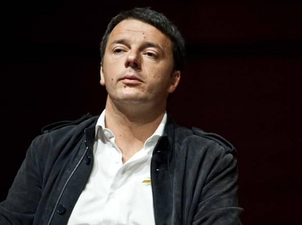 Protesta a Napoli, Renzi e De Luca ritratti da vampiri