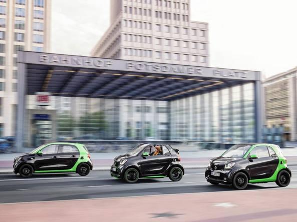 Smart le nuove versioni elettriche corriere.it