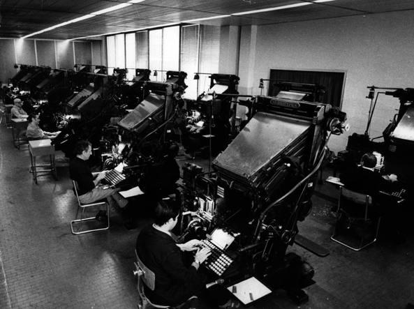 Le linotype al «Corriere della Sera» negli anni Settanta