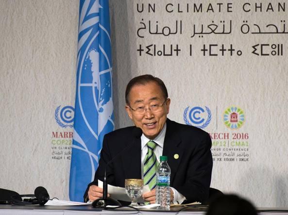 Cop22, Ban Ki-Moon: