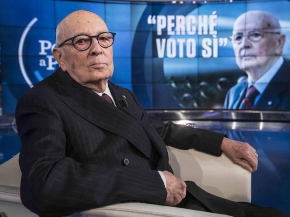 Napolitano: è diventata sfida aberrrante, non si vota pro o contro Renzi