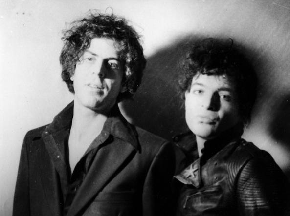 I Suicide, il duo musicale newyorchese composto da Alan Vega (a destra) e Martin Rev