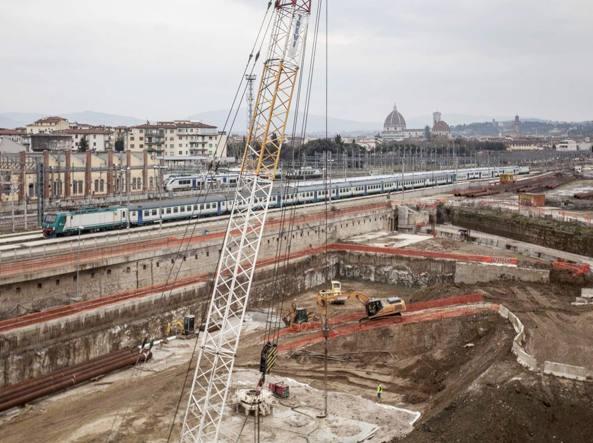 Il cantiere Tav a Firenze (foto Sestini)