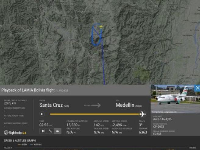 Colombia, precipita aereo con 81 personeA bordo una squadra di calcio brasiliana