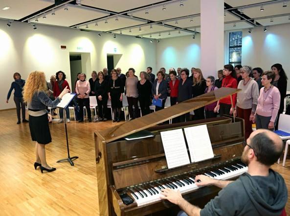 Una prova del Coro degli stonati dell'Orchestra Verdi di Milano (Fotogramma)
