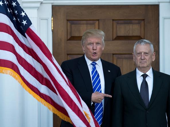 Donald Trump e James Mattis (Getty)