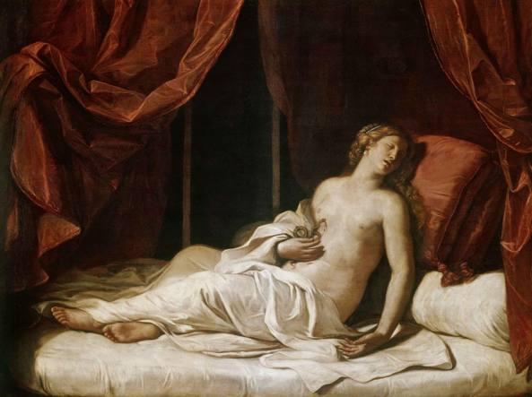 Guercino, «Cleopatra morente» (1648, olio su tela)