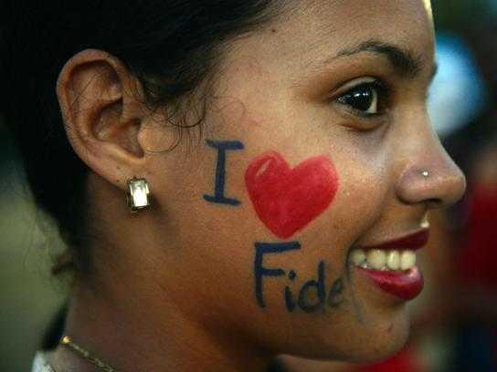 Addio al lider maximo Fidel Castro Foto