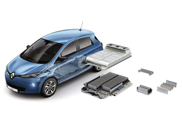 La Renault Zoe e il suo pacco batterie