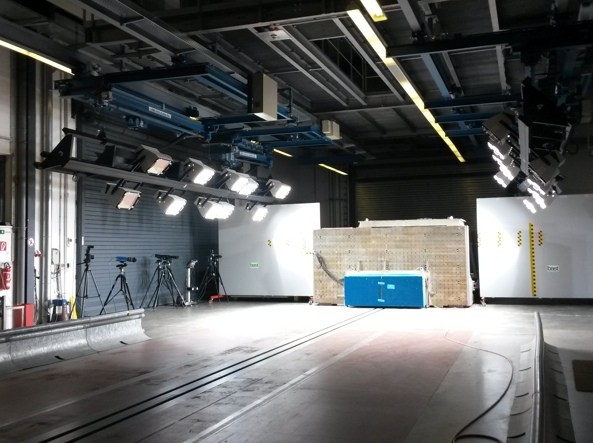 Il «set» dove i tecnici di Euro Ncap mettono alla prova le vetture