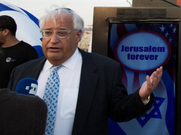 Israele, Trump sceglie nuovo ambasciatore Usa. Friedman: