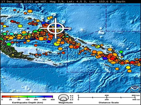 Scossa di magnitudo 7,9 in Papua Nuova Guinea