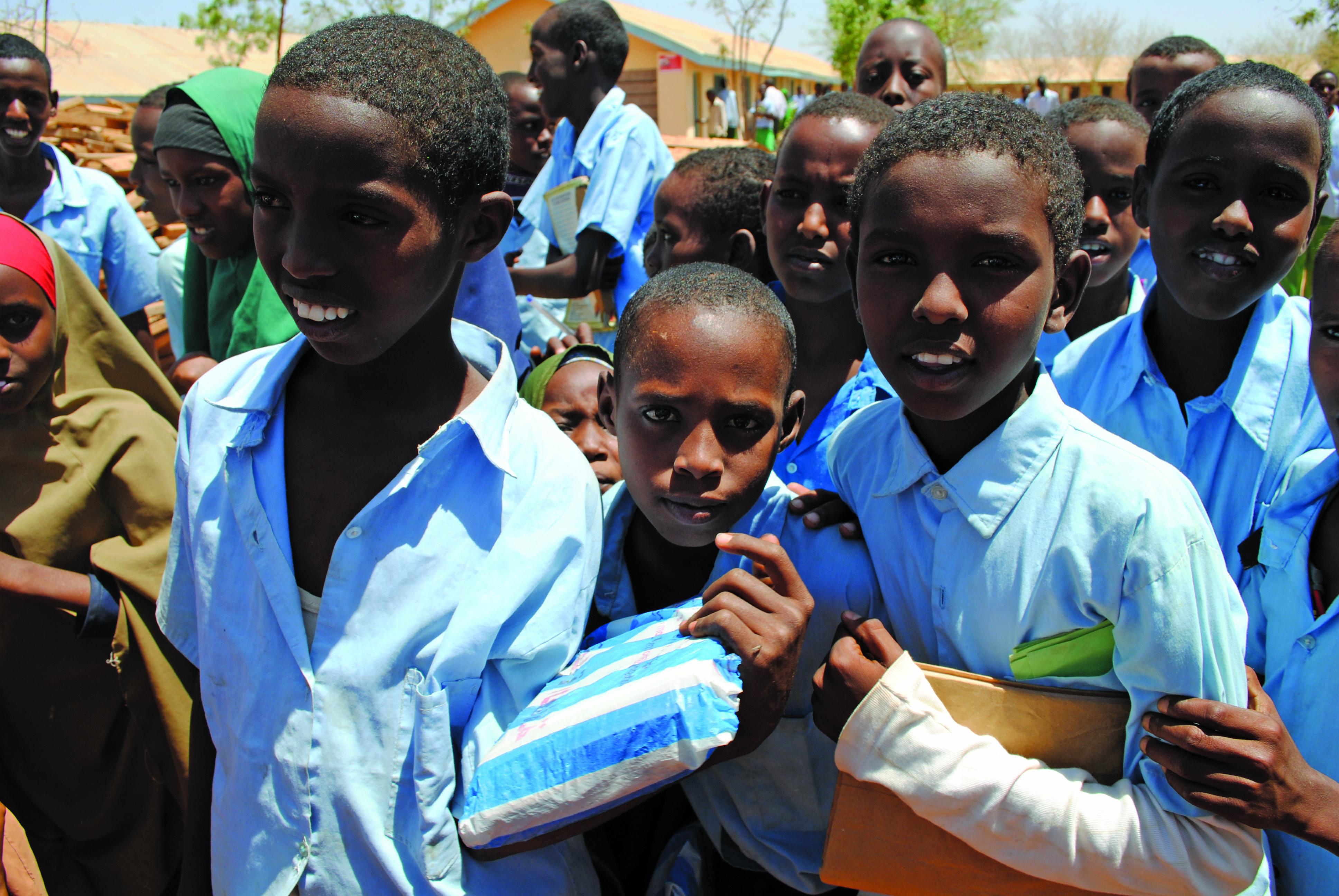 I volti dei bambini nel campo profughi di Dadaab Kenya dove il 61