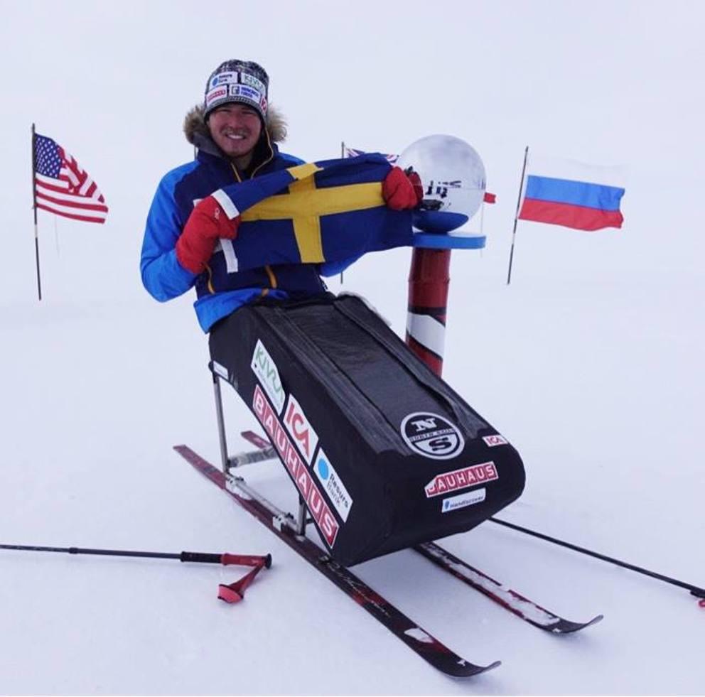 Aron anderson al polo sud sulla sedia a rotelle l for Uomo sulla sedia a rotelle