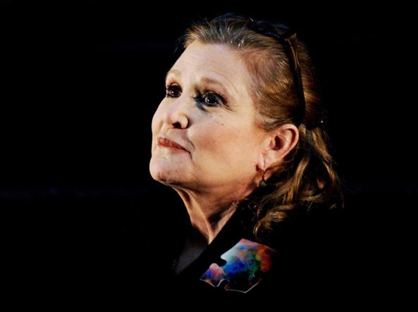 Carrie Fisher in una foto recente (Epa)