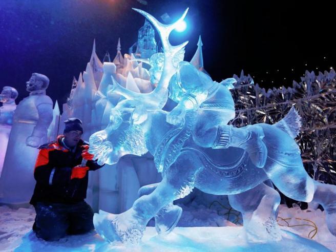 In Belgio come in Antartide  FotoIl villaggio di ghiaccio è a -6