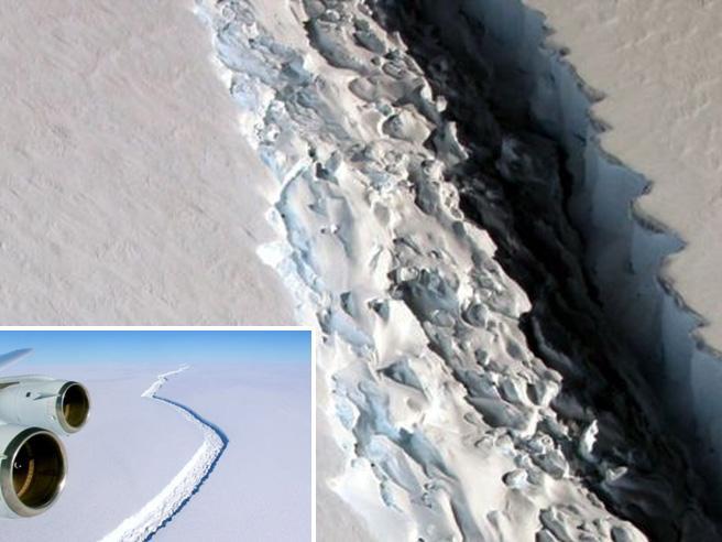 Un iceberg grande come la Liguria   «minaccia» l'Antartide