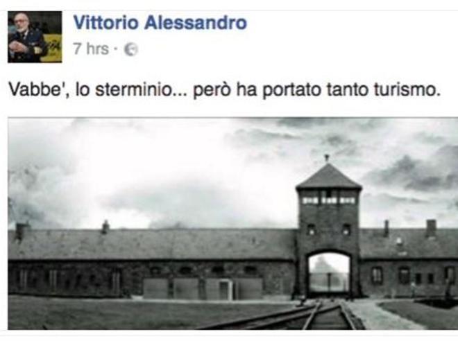 «Lo sterminio ha portato turismo» Il post su facebook scatena la bufera