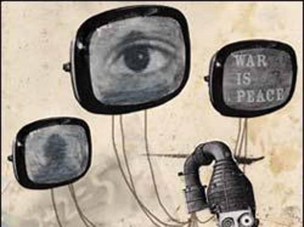 Un'illustrazione per 1984 di George Orwell