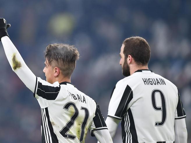Juve-Bologna 3-0 Le pagelleHiguain-Dybala fanno festaL'Inter ringrazia Perisic|VotiMilan, veleno Bacca|Roma ok