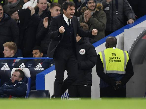Antonio Conte, al comando della Premier League col Chelsea (Reuters/O'Brien)