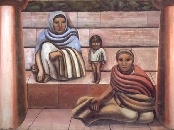 «Ritratto del Messico oggi» (1932), un'opera dell'artista messicano David Alfaro Siqueiros (1896-1974)