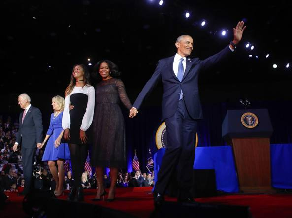 L'addio di Obama a Chicago: