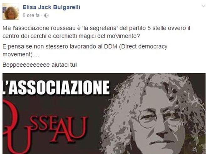 M5S, Bulgarelli attacca la piattaforma Rousseau: «È cerchio magico? Grillo aiutaci tu»
