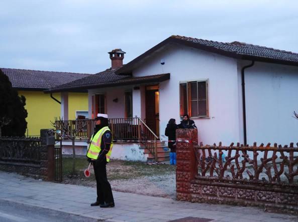 La casa del delitto a Pontelangorino (Ansa)