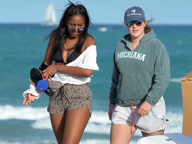 Sasha Obama, relax  a  Miami