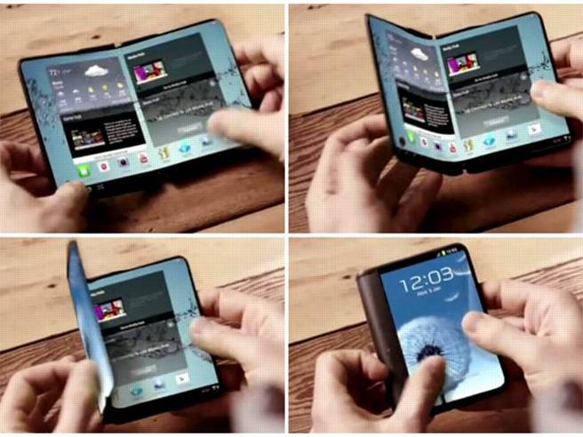 Il 2017 sarà l'anno dei telefoni flessibili L'idea di Microsoft, Samsung già in luglio