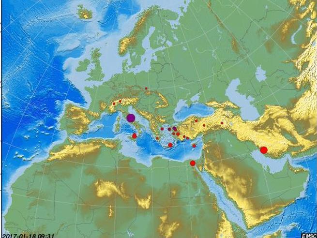 Terremoto in Centro Italia, tre forti scosse nel giro di un'ora in  AbruzzoMagnitudo 5.1 e 5.5 Paura a RomaDa  agosto una scossa ogni 4,5 minuti
