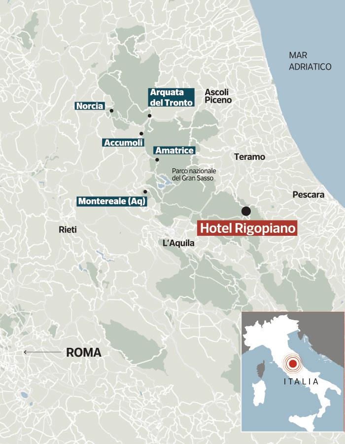 Dove si trova l hotel rigopiano for Bagno a ripoli dove si trova