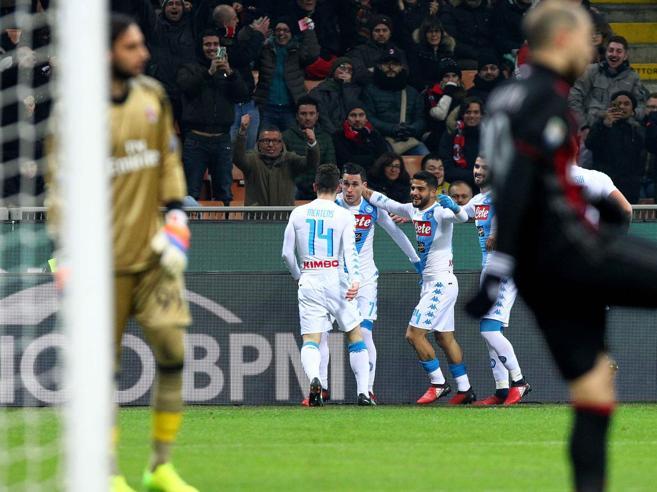 Serie A, Milan-Napoli 1-2: Insigne e Callejon fulminano i rossoneri