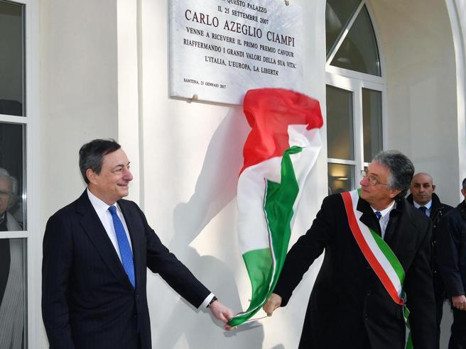 Draghi: ieri come oggi l'Italia ha semprebisogno dell'Europa