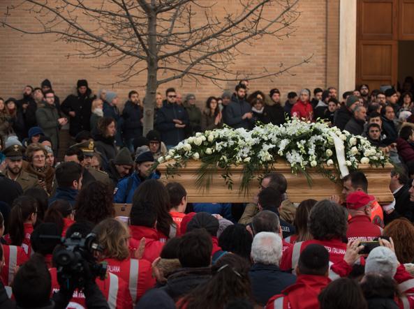 I funerali di Gabriele D'Angelo (La Presse)