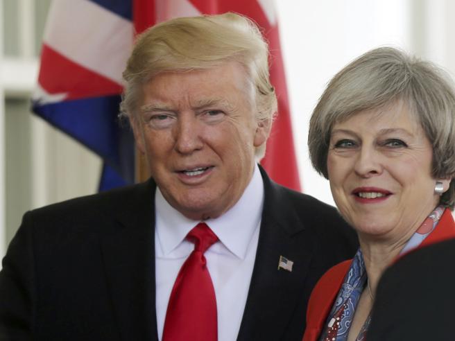 Trump-May, vertice  alla Casa Bianca fotoIl muro col Messico e le minacce di dazi